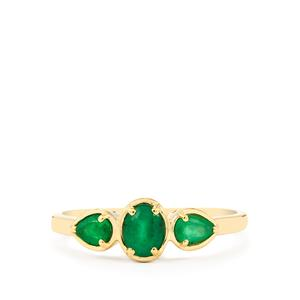 Santa Terezinha Emerald Ring in 10k Gold 0.62cts