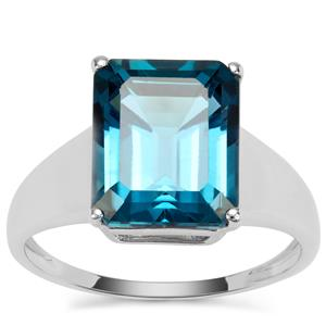 Marambaia London Blue Topaz Ring in Sterling Silver 5.41cts