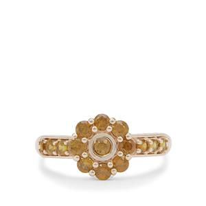 Apache Demantoid Garnet Ring in 9K Gold 1cts