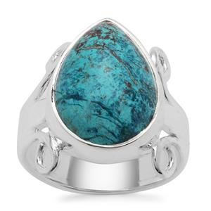 Namibian Shattuckite Ring in Sterling Silver 8cts