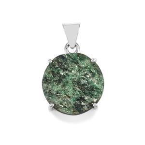 Fuchsite Drusy Pendant in Sterling Silver 27cts