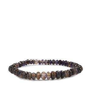 Bengal Iolite Graduated Stretchable Bead Bracelet 49cts