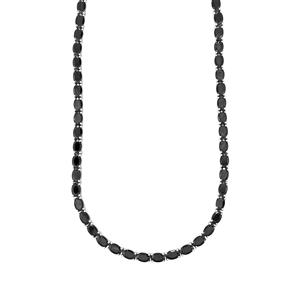 42ct Black Spinel Sterling Silver Necklace