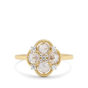 1.24ct Rose Cut Ratanakiri Zircon 9K Gold Ring