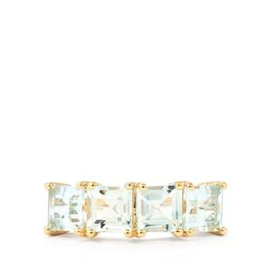2.14ct Espirito Santo Aquamarine 9K Gold Ring
