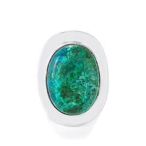 Chrysocolla Ring in Sterling Silver 17cts