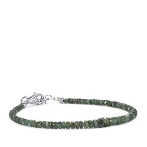 Alexandrite Graduated Bead Bracelet in Sterling Silver 16cts