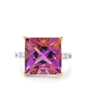Anahi Ametrine Ring with Ceylon White Sapphire in 9K Gold 9.23cts