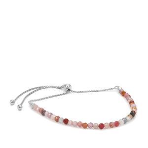 Burmese Multi-Colour Spinel Bracelet in Sterling Silver 6cts