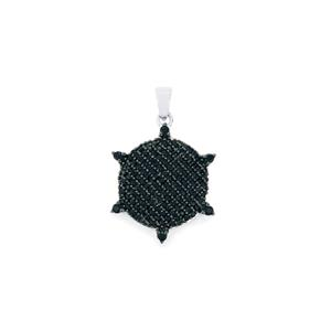 1.57ct Black Spinel Sterling Silver Pendant