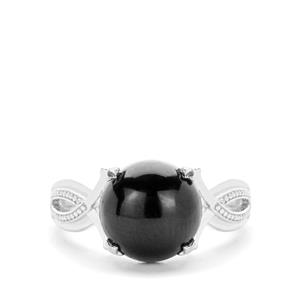 Black Tourmaline Ring in Sterling Silver 4.71cts