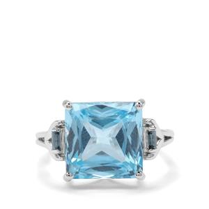 12.47ct Sky Blue & Marambaia London Blue Topaz Sterling Silver Ring
