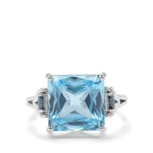 12.47ct Sky Blue & Marambaia London Blue Topaz Sterling Silver Ring