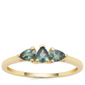 Nigerian Blue Sapphire Ring in 9K Gold 0.57cts