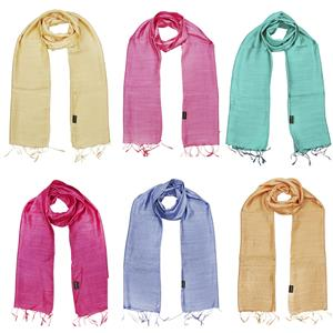Silk Modal Scarf with Fringes - Choice of 6 Gemstone Colors