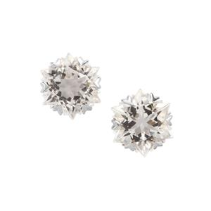 Wobito Snowflake Cut Itinga Petalite Earrings in 10K White Gold 3.73cts