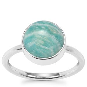 Amazonite Ring in Sterling Silver 4.25cts