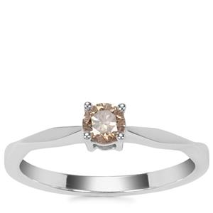 Argyle Diamond Ring in 18K White Gold 0.25ct