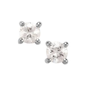 Singida Tanzanian Zircon Earrings in Sterling Silver 1.79cts