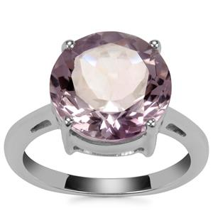 Rose De France Amethyst Ring in Sterling Silver 5.83cts