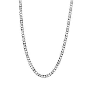 "22"" Sterling Silver Classico Diamond Cut Curb Chain 1.22g"