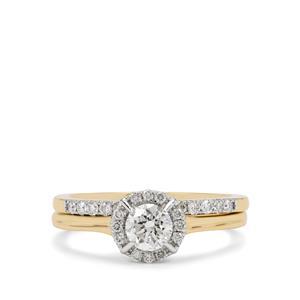 3/4ct Diamond 18K Gold Tomas Rae Set of 2 Stracker Ring