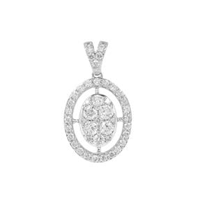 Diamond Pendant in Platinum 950 1ct