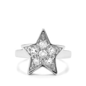 Size R to S 0.52ct Itinga Petalite Sterling Silver Star Ring
