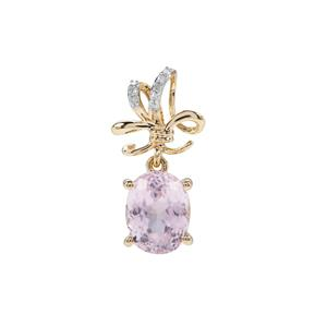 Kolum Kunzite Pendant with Diamond in 9k Gold 2.61cts
