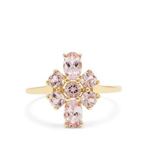 Cherry Blossom™ Morganite Ring in 9K Gold 1.55cts