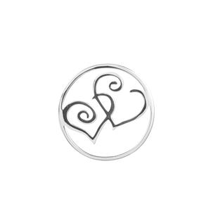 Entwined Hearts Sterling Silver Disc 2.75g