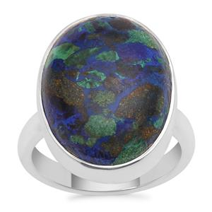 Azure Malachite Ring in Sterling Silver 15.64cts