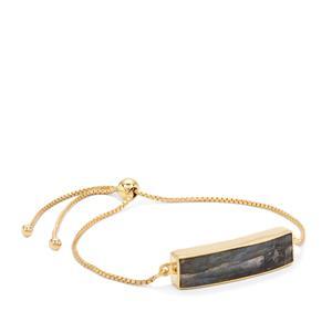 Labradorite Slider Bar Bracelet in Gold Plated Sterling Silver 9.60cts