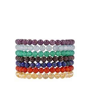 Kaleidoscope Gemstones set of Bracelet 350cts