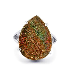 13ct Spectropyrite Drusy Sterling Silver Aryonna Ring