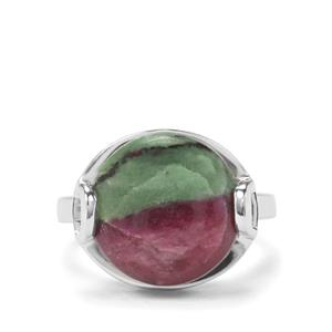11.16ct Ruby-Zoisite Sterling Silver Ring