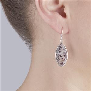 Sonora Dendrite Earrings in Sterling Silver 22.69cts