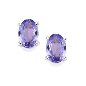 Tanzanite Earrings in Sterling Silver 1.28cts