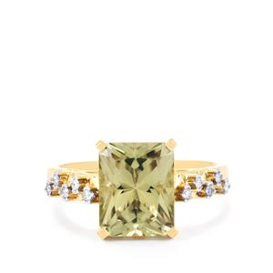 Csarite® Ring with Diamond in 18k Gold 3.86cts