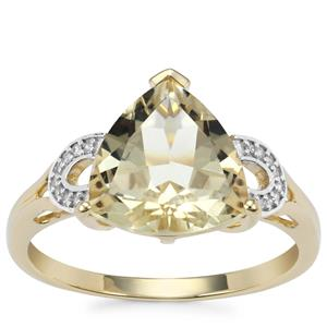 Serenite Ring with Diamond in 9K Gold 2.86cts