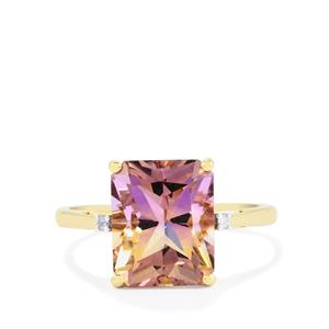 Anahi Ametrine Ring with Diamond in 9K Gold 4.20cts