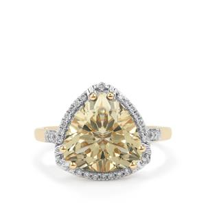 Serenite Ring with Diamond in 18K Gold 4.07cts
