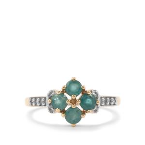 Grandidierite & Diamond 10K Gold Ring ATGW 0.78cts