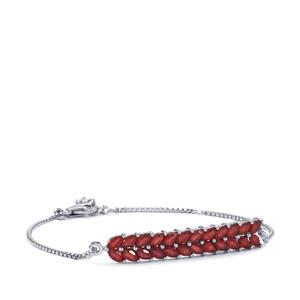 Malagasy Ruby Bracelet in Sterling Silver 5.16cts (F)