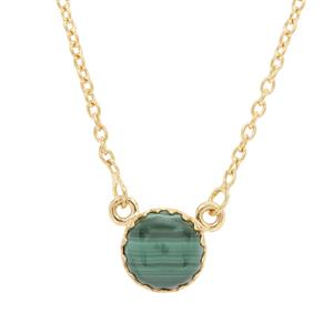 Malachite Necklace in Gold Plated Sterling Silver 5.50cts