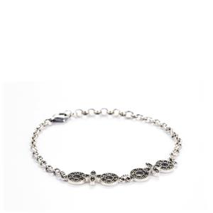Natural Marcasite Sterling Silver Jewels of Valais Bracelet ATGW 0.21ct