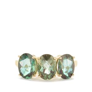 Colour Change Andesine Ring in 9K Gold 3.44cts