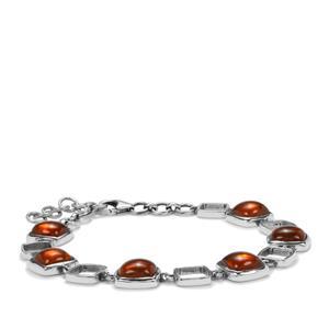 American Fire Opal Bracelet in Sterling Silver 14.66cts