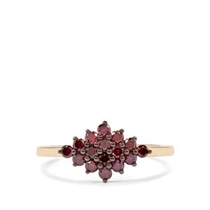 Purple Diamond Ring in 10K Gold 0.57ct