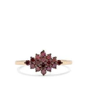 Purple Diamond Ring in 9K Gold 0.57ct